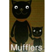 猫イラスト ポストカード クラシック ブラウン