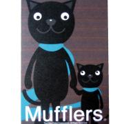 猫イラスト ポストカード クラシック ターコイズ